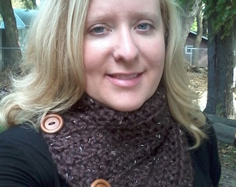 Chocolate Brown Cowl