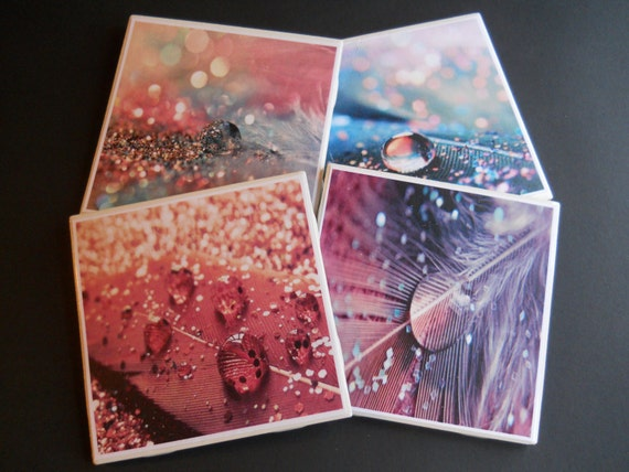 Glitter Coasters Ceramic Tile Coasters Pretty Coasters