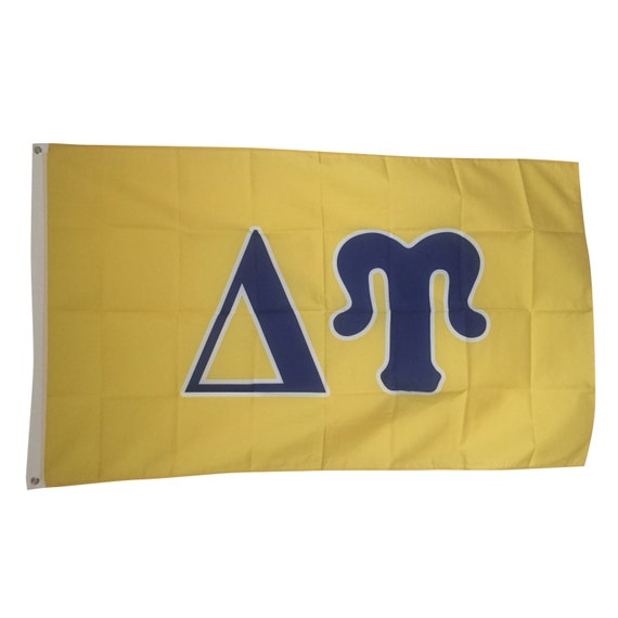 Delta upsilon letter fraternity flag for Delta upsilon letters