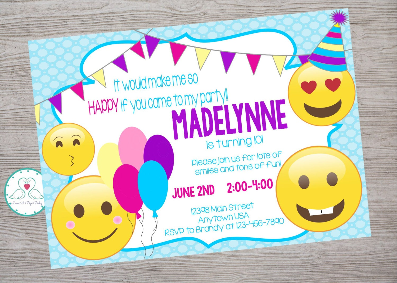 emoji emoticon inspired birthday party invitation printable emoji emoticon inspired birthday party invitation printable digital 128270zoom