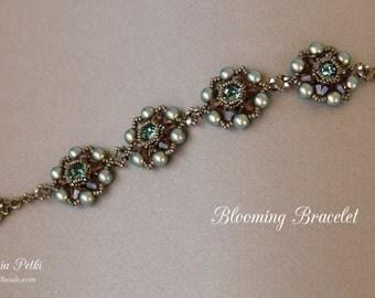 Bracelet Tutorial - Beaded Bracelet - Digital Download - Beading Pattern - Blooming Bracelet