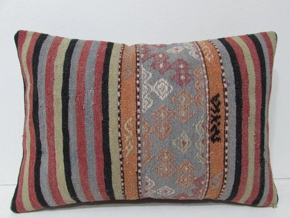 kilim pillow garden 16x24 rug decorative pillow oriental throw
