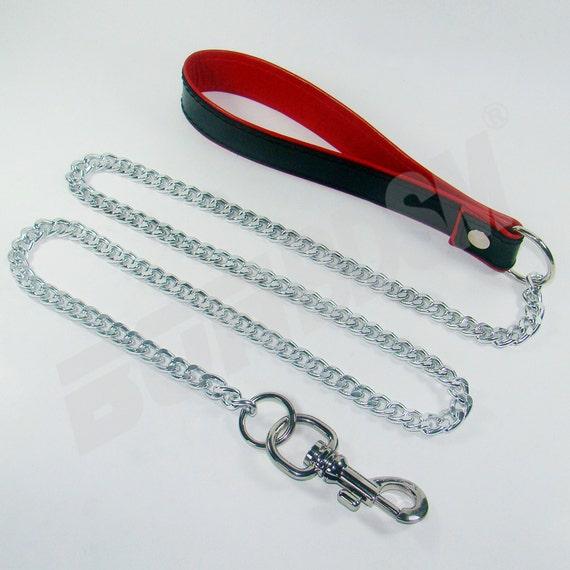 Bondage Bdsm Leather Leash For Slave Sub Or Fetish Gear By Bonbdsm-2529