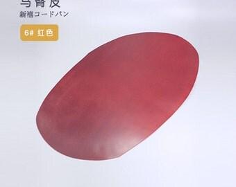 LeatherMob Shinki Hikaku Red Shell Cordovan Leather Horsehide Leathercraft