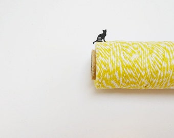 Yellow Baker's Twine, Cotton Twine, Gift String - 100 yards
