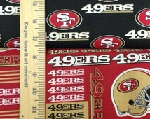 San Francisco 49ers Black, Red, & Gold NFL Logo Cotton Fabric by Fabric Traditions! [Choose Your Cut Size]