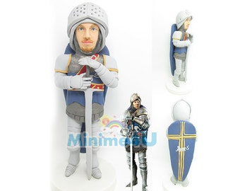 knight figure - personalized custom figurine& 3D doll  (Free Shipping Worldwide)