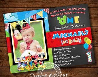 MICKEY MOUSE INVITATION, Birthday Invitation, Mickey Mouse Birthday, Printable Invitation, Mickey Mouse Invite, Mickey Mouse, Mickey Invites