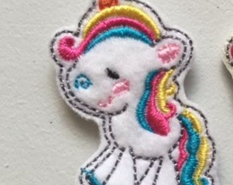 UNCUT Colorful Unicorn feltie