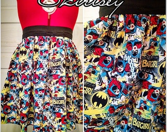 Batgirl High Waisted Skirt