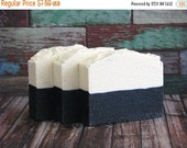 ON SALE Ocean Absolute Soap | Sea Salt Bar + Activated Charcoal, Palm Free Luxury Cold Process Body Wash, Handmade, Detox Clay, Vegan, Exfol