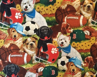 Travel or Child Pillow Case /  Puppy Sports