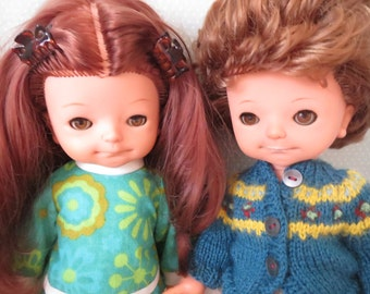 Vintage Wildebras dolls brother and sister 70s Holland