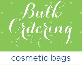Nautical Cosmetic Bags Bulk, Bulk Order Price, Nautical Colors, Wedding Favors, Clutch, Makeup Bags Bulk