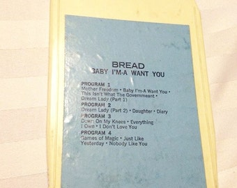 Vintage Retro 8 Track Tape Bread Baby I'ma Want You