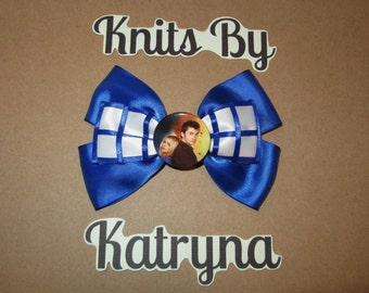 Tardis Doctor Who Inspired Hair Bow