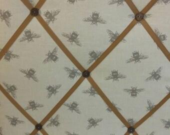 Memo board in Bee Fabric padded notice board