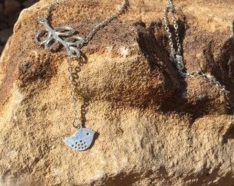 Little Bird Leaf Lariat/Y necklace