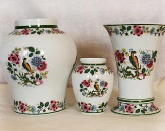 Vintage Set of 3 Vases Royal Porzellan Bavaria KPM Germany