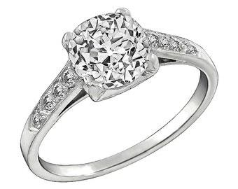 Vintage GIA Certified 1.72ct Diamond Engagement Ring