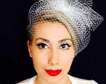 Birdcage veil - Bridal - 1950s glamour - Vintage Inspired