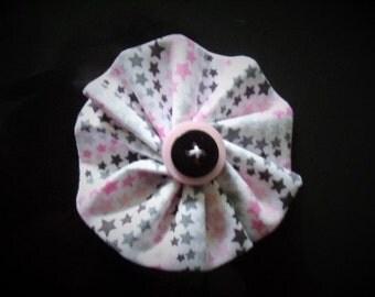 Pink Stars Hair Flower