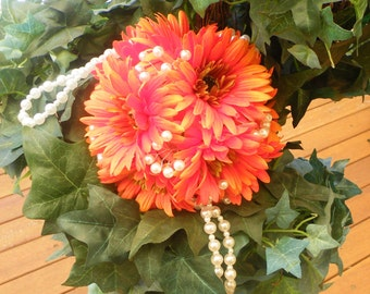 Gerbera Kissing Ball Pomanda Orange Daisy