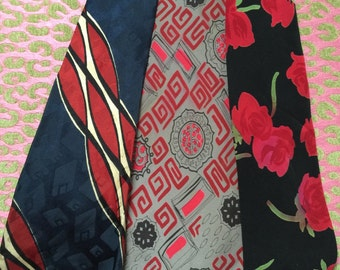 Three vintage 1940s neckties in great condition
