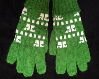 Vintage courreges kint gloves  mittons 70s 60s
