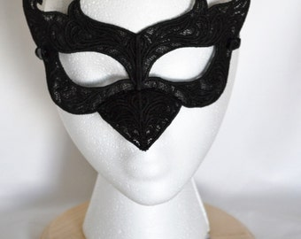 Embroidered Lace Raven Mask