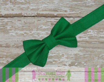 Kelly Green pre-tied Bow Tie Infant, Child, Youth, Adult
