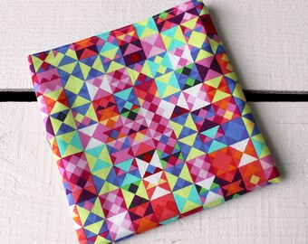 Reusable Snack and Sandwich Bag with Michael Miller What's Your Angle Fabric