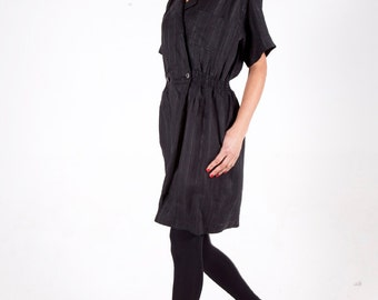 Black linen playsuit
