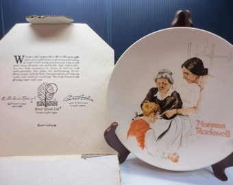 Norman Rockwell The Broken Window Collector Plate 1981 Knowles Limited Edition 12170