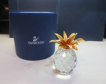 Swarovski Crystal Large Pineapple | Retired | #10044 | 7507 NR 105 001 | Signed