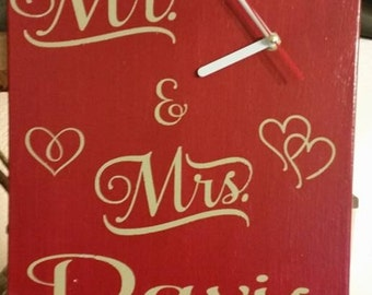 Mr and Mrs Canvas Clock