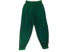 Emerald Green Alladin Pants - Womens + Mens Yoga Pants