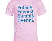 Wonder Girls Member Names K-pop T-Shirt