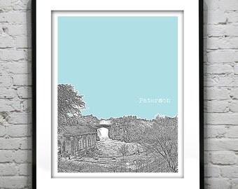 Paterson New Jersey Skyline Poster Print Art NJ
