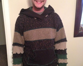 Upcycled Wool Hoodie Size LRG/XL