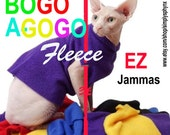 Sphynx Cat Clothes BOGO EZ Jamma All Sizes Solids Fleece Cat sweater dog sweater cat shirts Chinese Crested clothes.Pet Gift Pet Gift