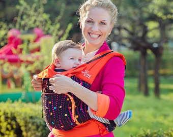 Buckle Baby Carrier / Sling / Soft structured/ by Bagy™ Bubbles Ergo Carrier