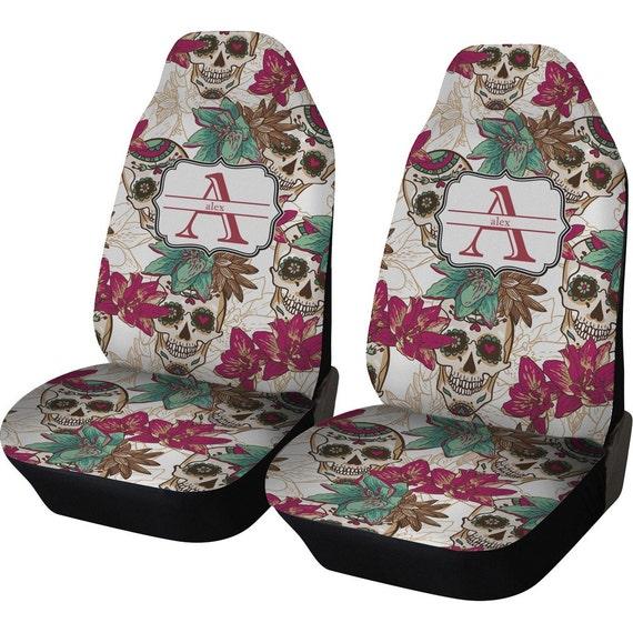 Items Similar To Sugar Skulls Amp Flowers Car Seat Covers