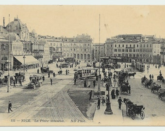 Nice, France Place Massena Photo Postcard, c. 1910