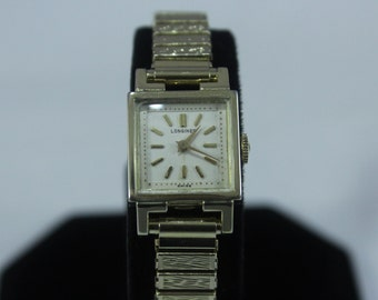 Vintage Ladies 10k Gold Filled Longines Mechanical Wind Up Watch