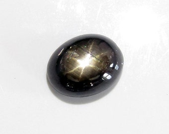 loose gemstone oval black star sapphire 3 ct with 6 rays (SA73)