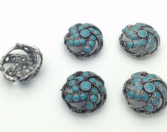 Blue Turquoise focal point x 5 pieces