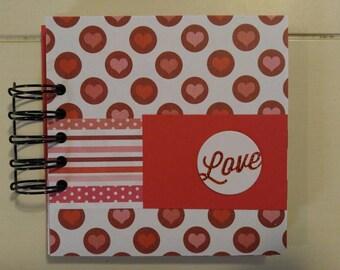 Love mini album, 5x5 mini album, Love scrapbook album, Love mini scrapbook, Love brag book, Love premade mini album, WK 130