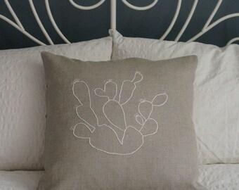 SALE/// Desert Cacti linen pillow cover