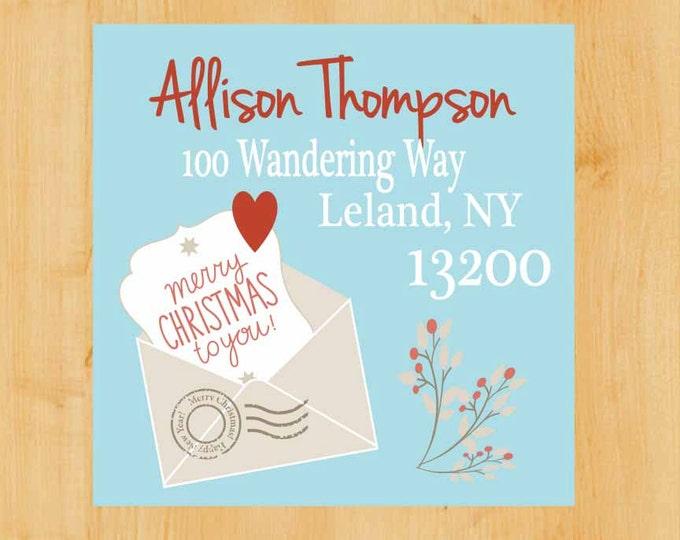 Holiday Address Labels | Holiday Square Labels | Christmas Address Label | Square Return Address Label | Return Address Label